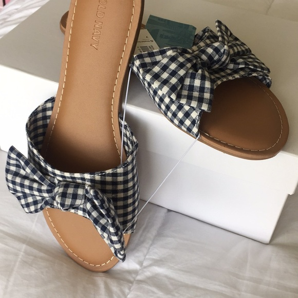 a38b7a455b0a Old Navy Printed Bow-Tie Slide Sandals